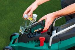 Akkuwechsel bei Bosch Rasenmäher