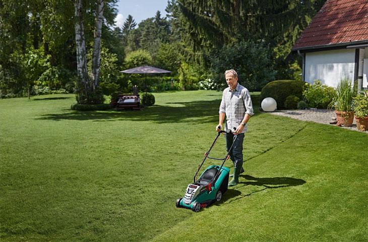 Akku-Rasenmäher von Bosch