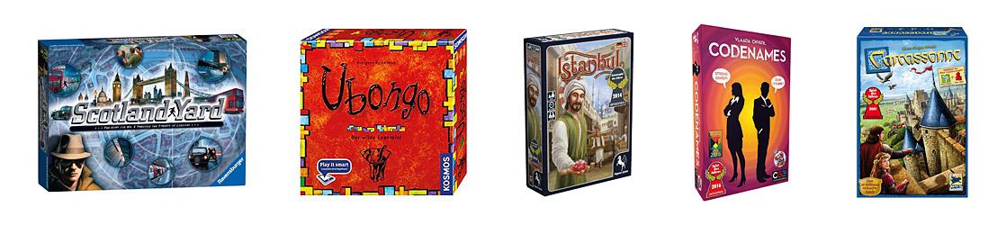 Spieleverlage - Ravensburger, Kosmos, Pegasus, Asmodee, Hans im Glück