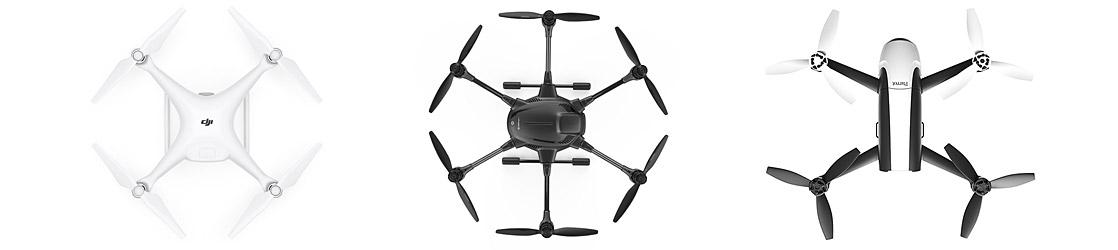 Drohnen - DJI, Parrot, Yuneec