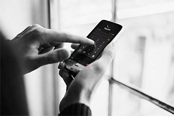 Gigaset Festnetztelefon in Betrieb