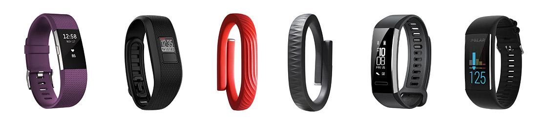 Fitness-Armbänder - Fitbit, Garmin, Huawei, Jawbone, Polar