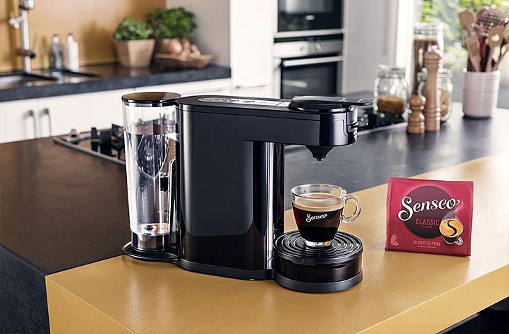 Senseo Kaffeepadmaschine in Benutzung