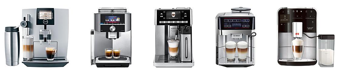 Kaffeevollautomaten verschiedener Hersteller