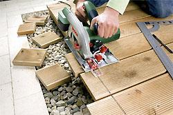 Holzschnitt mit Bosch Kreissäge