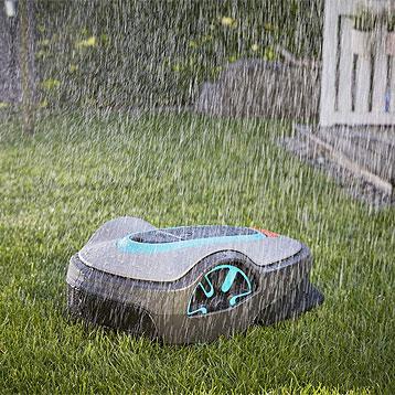 Gardena Mähroboter bei Regen