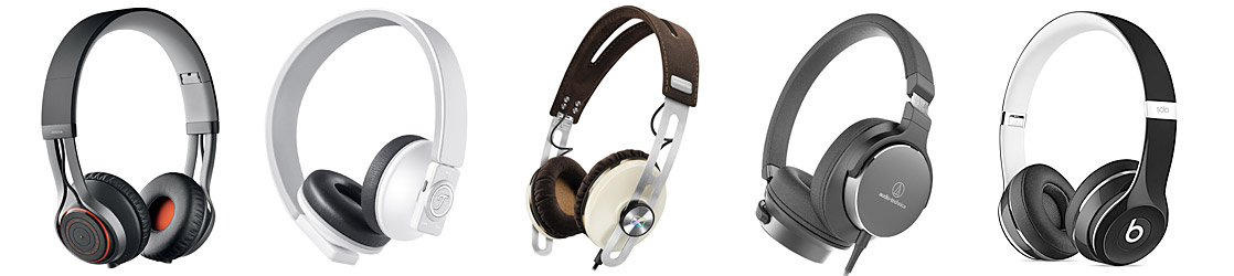 On-Ear-Kopfhörer verschiedener Hersteller