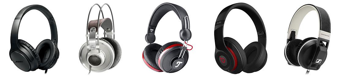 Verschiedene Over-Ear-Kopfhörer