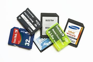 SD-Speicherkarten verschiedener Hersteller
