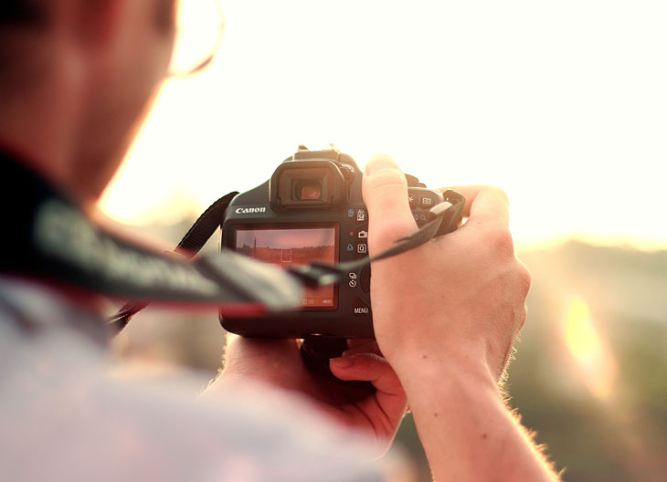 Canon Spiegelreflexkamera - Sonnenuntergang